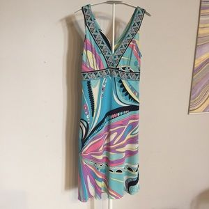 Emilio Pucci psychedelic dress 6 AS IS